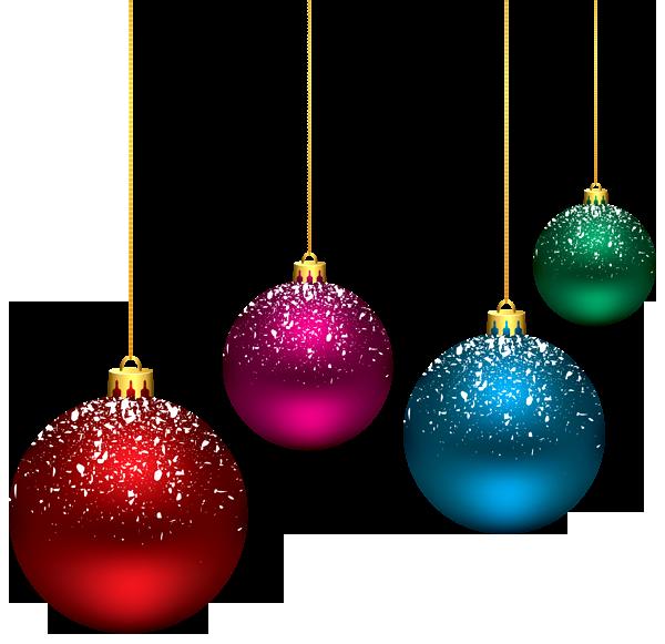 Christmas Balls Pine Branch Clipart