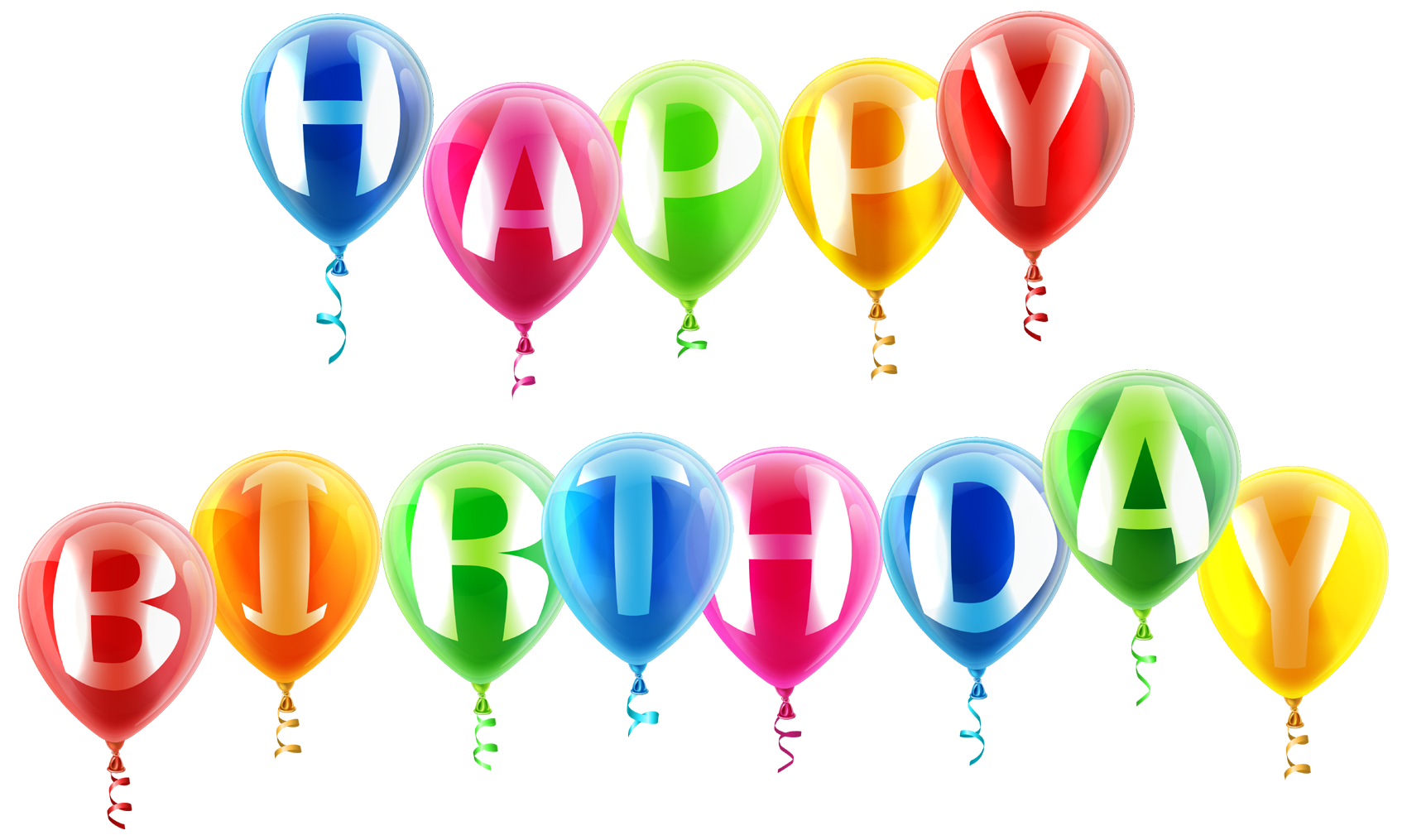 Happy birthday text art design in png vector psd format - Happy birthday balloon images hd ...