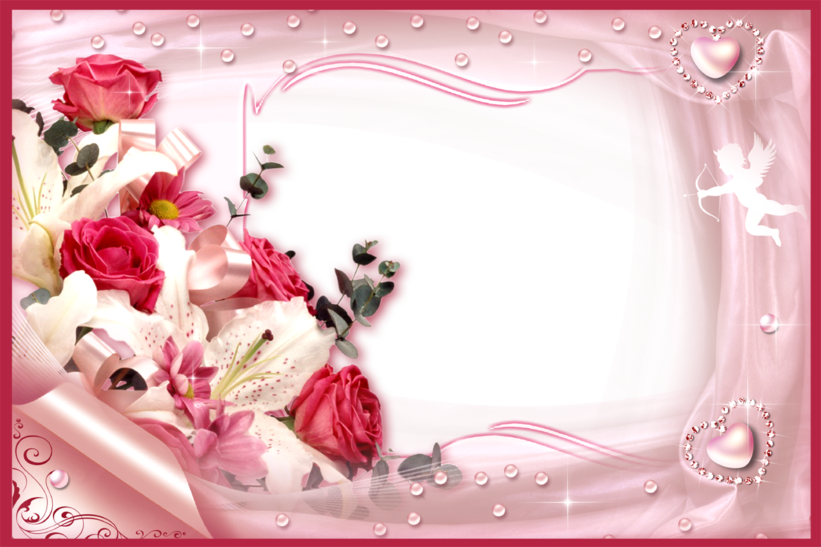 Love Frame Png Transparent Images 1293: White Rose Love Frame Png Free Download 2019 Year Picture