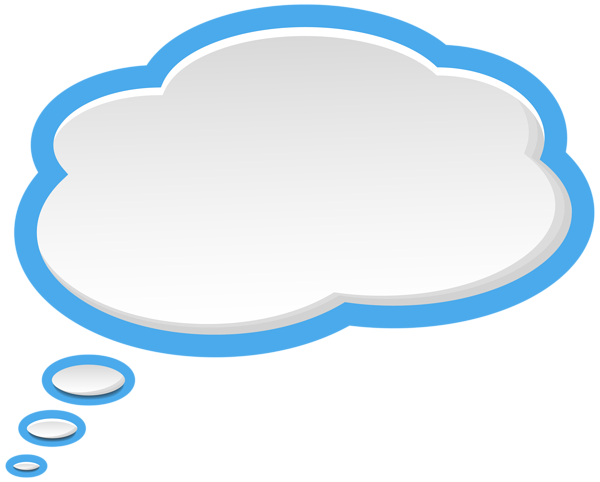 Speech bubble png clipart with transparent background